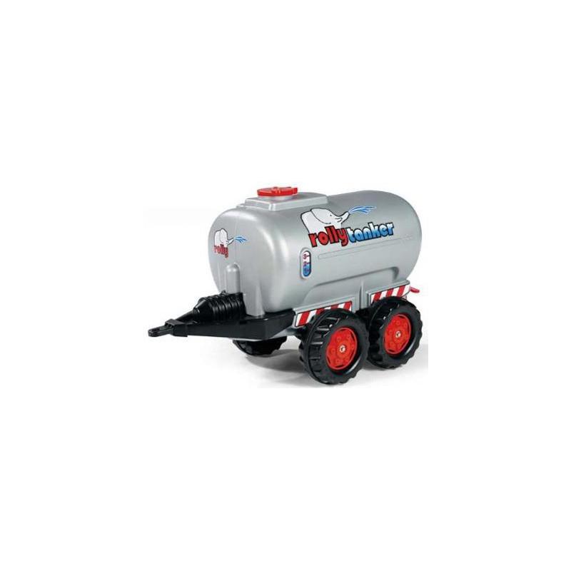RollyToys strieborný cisternový príves