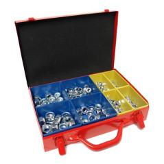 DEMA Poistné matice šesťhranné v kovovom kufríku s organizérom, 340-dielna sada