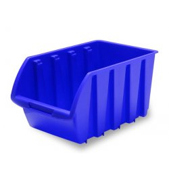 Zásobník 24 x 15 x 12,5 cm v modrej farbe