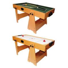 DEMA Hrací stôl na biliard a hokej sklápateľný 2v1 5ft