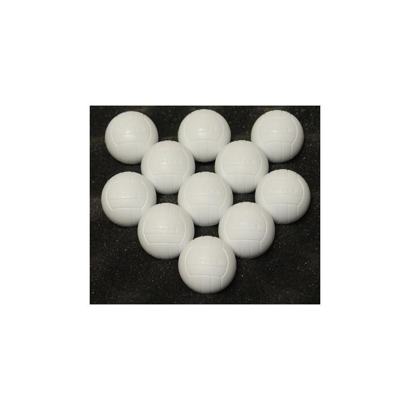 Sada futbalových lôpt 11 ks biele