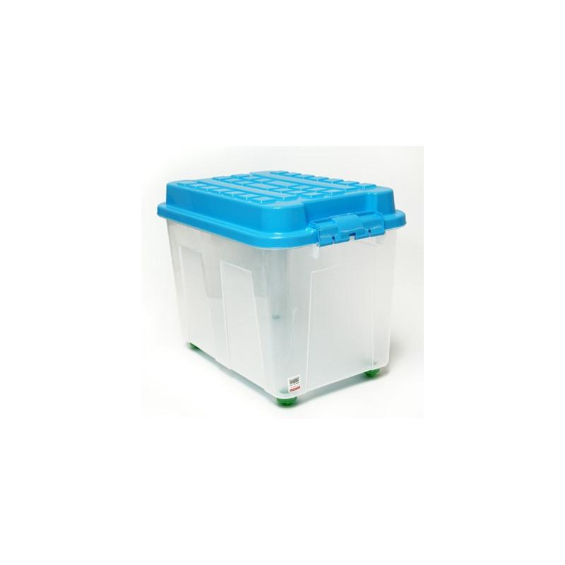 Box úložný s vekom 65 l, modrý