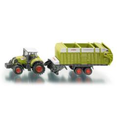 CLAAS traktor s nákladným prívesom 1846