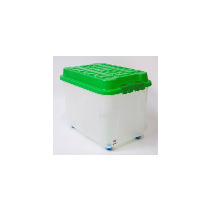 Box úložný s vekom 65 l, zelený