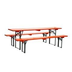 DEMA Pivný set 220x50 cm, oranžový