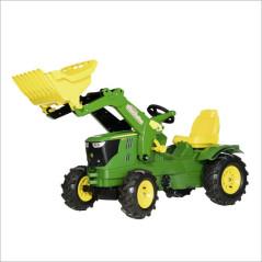 Rolly Toys John Deere 6210R s prednou radlicou a pneumatikami