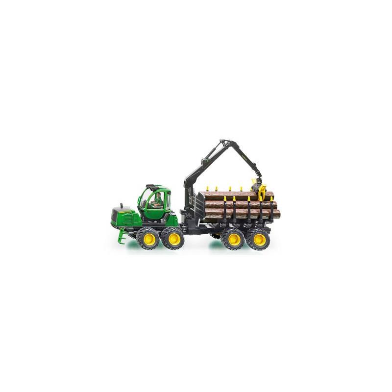 Siku John Deere lesnícke vozidlo s prívesom a hydraulickou rukou