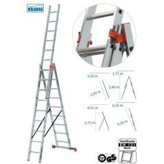 Rebrík viacúčelový 3 x 9