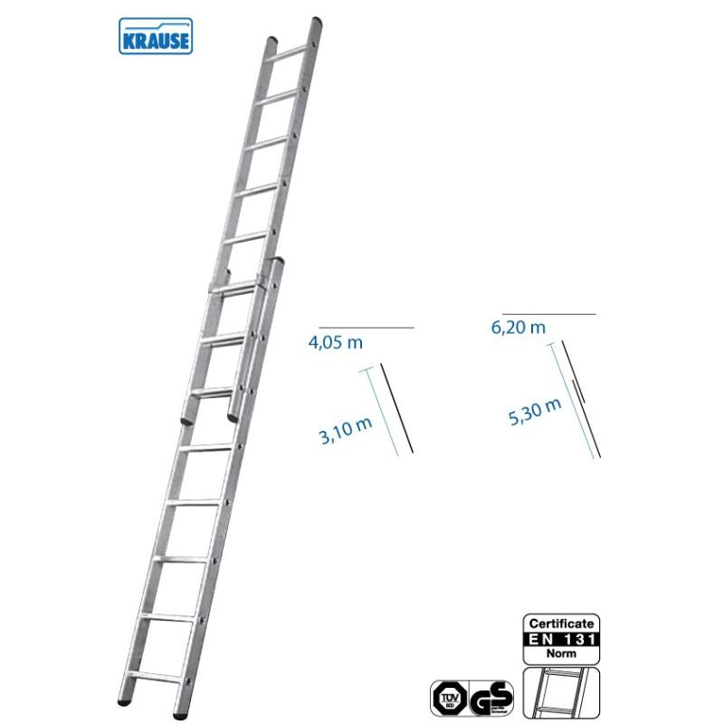 Rebrík výsuvný 2 x 11