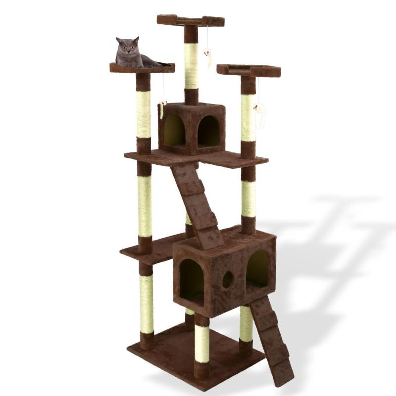 Škrabadlo pre mačky, hnedé, 180 cm