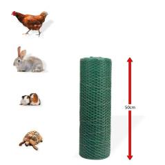 DEMA Králičie šesťhranné pletivo poplastované 13 mm, 0,5x25 m, drôt 0,8 mm, zelené