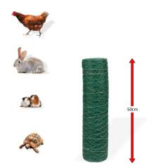DEMA Králičie šesťhranné pletivo poplastované 25 mm, 0,5x25 m, drôt 0,8 mm, zelené