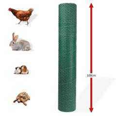 DEMA Králičie šesťhranné pletivo poplastované 13 mm, 1x25 m, drôt 0,8 mm, zelené