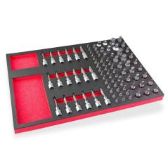Set bitov a nástrčkových kľúčov 87-dielny