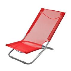 DEMA Skladacia plážová / záhradná stolička, červená