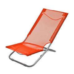 DEMA Skladacia plážová / záhradná stolička, oranžová