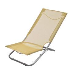 DEMA Skladacia plážová / záhradná stolička, béžová