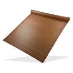 DEMA Clona na plot, bambusová rohož z PVC 90x500 cm, hnedá