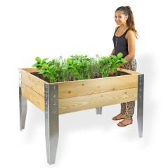 DEMA Drevený vyvýšený záhon na bylinky Riva 117x86x75 cm