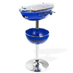 DEMA Barový stolík so stolným futbalom Vegas, modrý