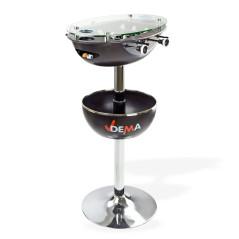 Barový stôl Vegas so stolným futbalom – čierny