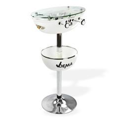 Barový stôl Vegas so stolným futbalom – biely