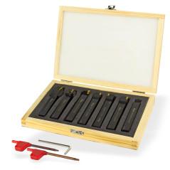 DEMA Sústružnícke nože na kov 12x12 mm, 7-dielna sada