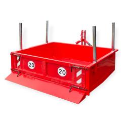 Hydraulický kontajner  125 x 180 x 40 cm