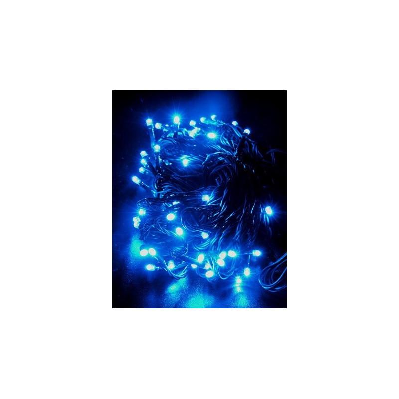 Reťaz vianočná 60 LED /10 m/8 funk./modrá