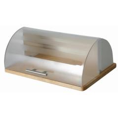 AMBITION Chlebník s dreveným podstavcom Logan Cream