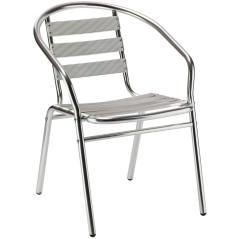 DEMA Hliníková záhradná stolička Alu