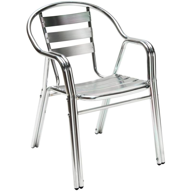DEMA Hliníková záhradná stolička Twin