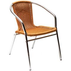 Hliníková záhradná stolička