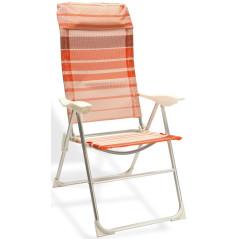 DEMA Plážová sklápacia stolička Baltimore, oranžová