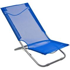 DEMA Skladacia plážová stolička, modrá
