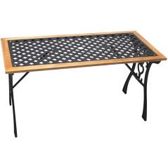 DEMA Záhradný stôl liatina/drevo Sonja