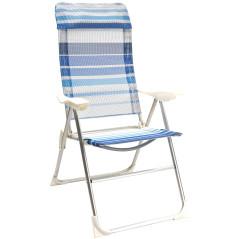 DEMA Plážová sklápacia stolička Baltimore, modrá