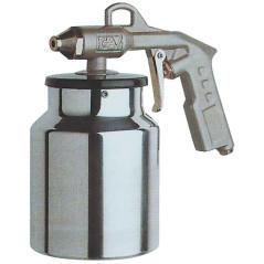 Pištoľ na ošetrenie podvozkov vozidiel s nádobkou
