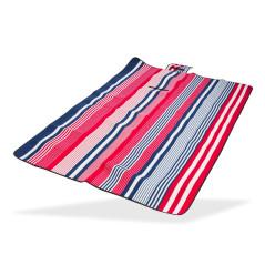DEMA Plážová / pikniková deka 190x130 cm Acryl-Fleece, bielo-modro-červená