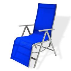 DEMA Záhradné polohovacie kreslo Corona, modré