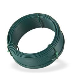 DEMA Viazací drôt poplastovaný 1,4 mm, dĺžka 25 m, zelený