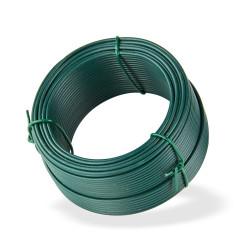 DEMA Viazací drôt poplastovaný 2,0 mm, dĺžka 25 m, zelený