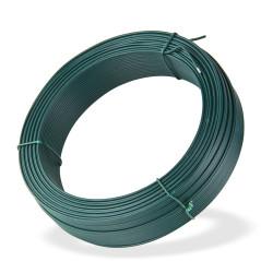 DEMA Viazací drôt poplastovaný 2,0 mm, dĺžka 100 m, zelený