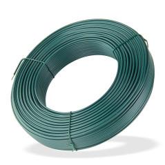 DEMA Viazací napínací drôt poplastovaný 3,1 mm, dĺžka 110 m, zelený