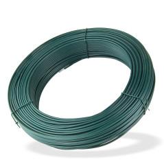 DEMA Viazací napínací drôt poplastovaný 3,8 mm, dĺžka 110 m, zelený