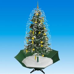 Vianočný stromček so snežením a ozdobami 195 cm DEMA