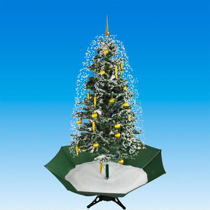 Vianočný stromček so snežením a ozdobami 175 cm DEMA