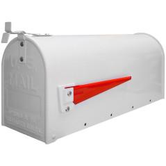 Poštová schránka z ocele, biela