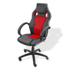 Stolička kancelárska Clermont, čierna - červená