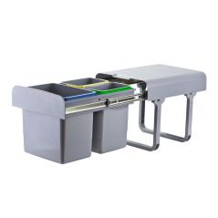 Odpadkový kôš na triedený odpad DEMA 1x15 L + 2x7 L